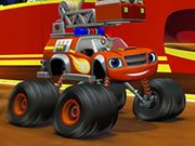 Play Blaze Monster Truck Jigsaw Game on FOG.COM
