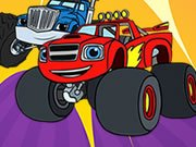 Play Blaze Monster Truck Coloring Book Game on FOG.COM