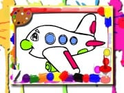 Airplane Coloring Book