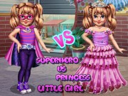 Little Girl Superhero Vs Princess