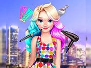 Play Elizas Neon Hairstyle Game on FOG.COM