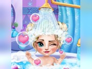 Play Ice Queen Baby Bath Game on FOG.COM