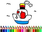 Play Bts Boat Coloring Game on FOG.COM