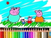 Play Bts Peppa Pig Coloring Game on FOG.COM