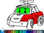 Robocar Poli Coloring Book