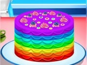 Play Elsa Cooking Rainbow Cake Game on FOG.COM