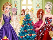 Play Princesses Christmas Glittery Ball Game on FOG.COM