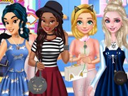 Play Princesses Feline Fashion Game on FOG.COM