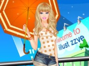 Play Barbie In The Rain Dress Up Game on FOG.COM