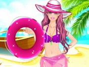 Play Barbie At The Beach Dress Up Game on FOG.COM