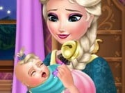 Play Elsa Baby Caring Game on FOG.COM
