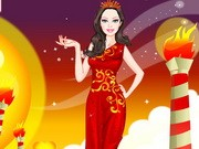 Barbie Fire Princess Dress Up