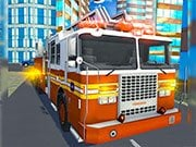 Play Fire City Truck Rescue Driving Simulator Game on FOG.COM