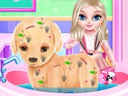Play Baby Elsa Puppy Surgery Game on FOG.COM