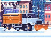 Play Snow Plow Trucks Jigsaw Game on FOG.COM