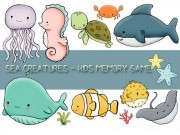 Kids Memory Sea Creature