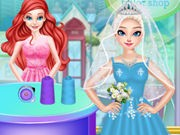 Play Ariel Wedding Dress Shop Game on FOG.COM