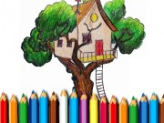 Tree House Coloring Book