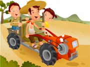 Cartoon Tractor Puzzle
