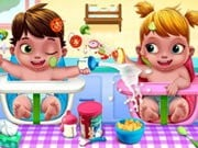 Play Baby Twins Caring Day Game on FOG.COM