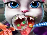 Play Kitty Tongue Doctor Game on FOG.COM