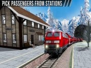 Uphill Station Bullet Passenger Train Drive Game