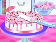 Cherry Blossom Cake Cooking
