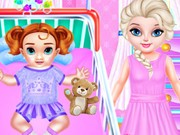 Play Little Elsa Caring Day Game on FOG.COM